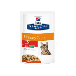 Hills Prescription Diet-PD Feline c/d Urinary Stress Reduced Calorie Pouch 85 gr (1)